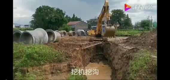 挖机挖沟遇到障碍物 应该怎么处理,我们 一起来看看