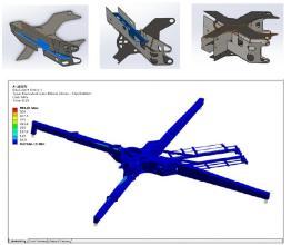 【独立滑道支撑系统更稳定】1.组合刚性支撑结构:上下独立滑道单独成箱,工艺性保证可靠; 2.通过板厚拓扑优化组合,支腿刚度增加18%。