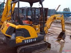 二手玉柴18-8小型挖掘机