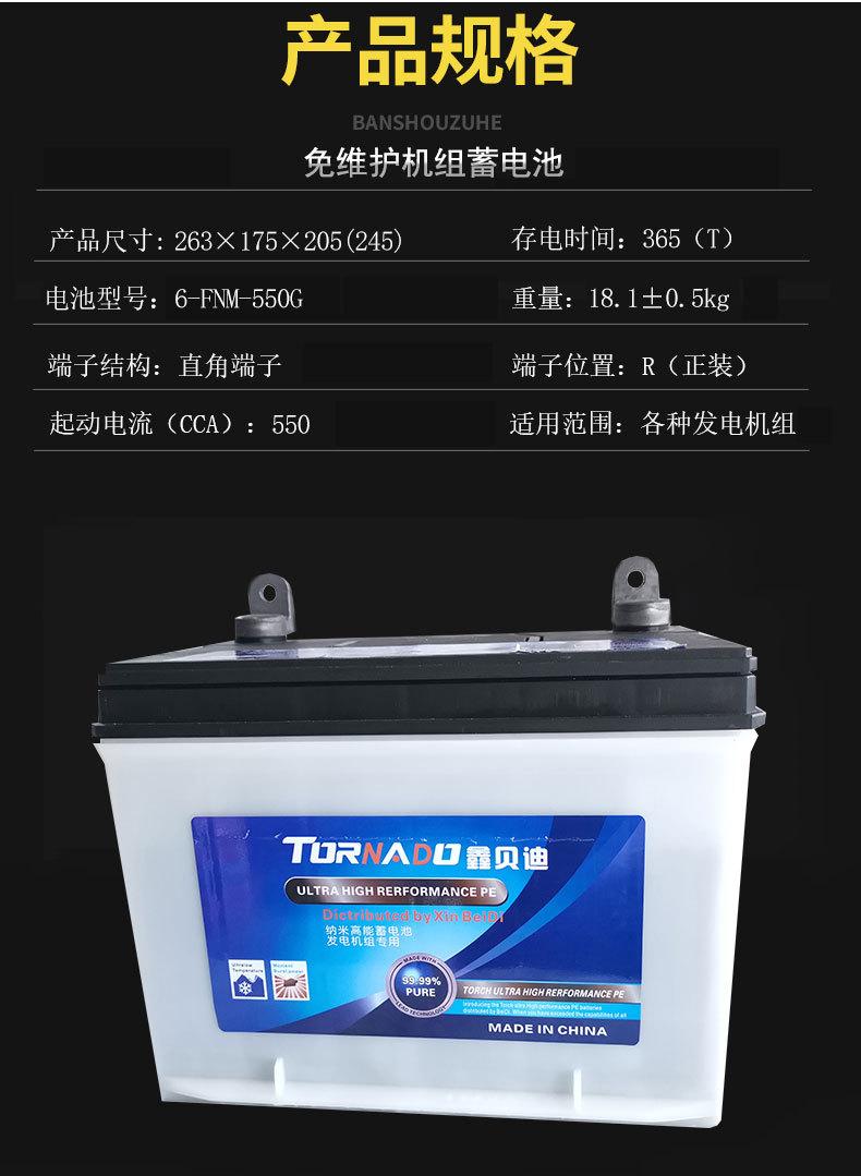 柴油发电机电瓶6-FNM-550G