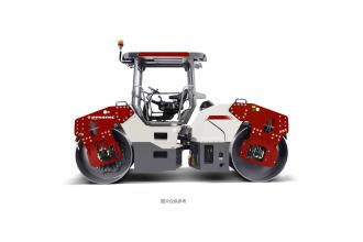 戴纳派克CC5208双钢轮振动压路机高清图 - 外观