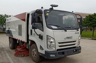 易山重工ESN5080TSL7吨小型扫路车_路面清扫车_可出租高清图 - 外观