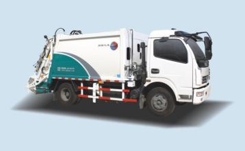 同辉汽车QTH5090ZYS7方压缩式垃圾车高清图 - 外观