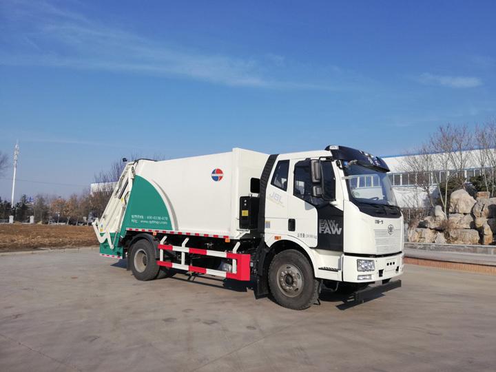 同辉汽车QTH5180ZYS解放底盘14方国六压缩垃圾车