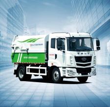 华菱星马AH5160ZDJ0L5压缩式对接垃圾车高清图 - 外观