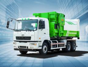 华菱星马XMYS15A1拉臂式垃圾车专用箱高清图 - 外观