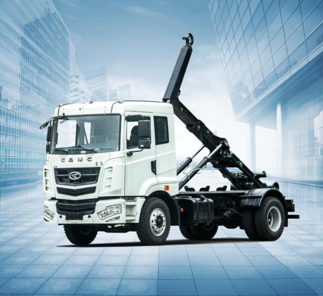 华菱星马AH5250ZDJ0L5车厢可卸式垃圾车(拉臂式)