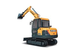 现代HX55挖掘机高清图 - 外观