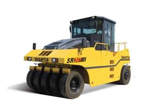 山推SR30T轮胎压路机高清图 - 外观