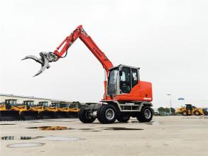 厦工XG8075W轮式挖掘机高清图 - 外观