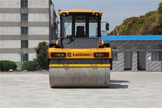 柳工CLG6212E双钢轮压路机高清图 - 外观
