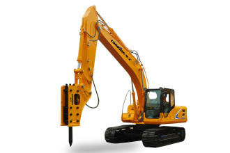 龙工LG6285H破碎王履带式液压挖掘机高清图 - 外观